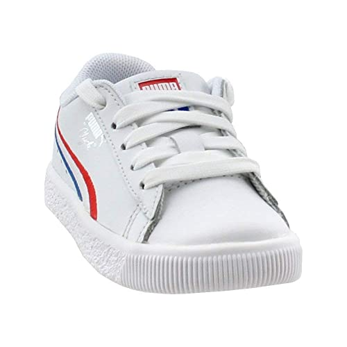 384cd43384b6 Puma Kids Baby Boy s Clyde 4th of July (Toddler) High Risk Red Puma