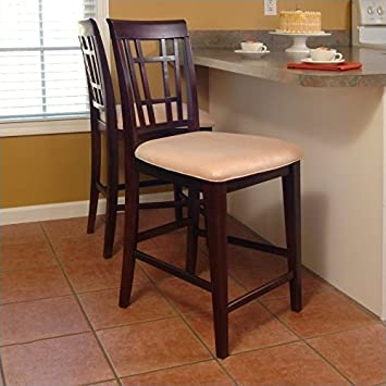 Super Amazon Com Leo Amp Lacey 25 5 Counter Stool In Oatmeal Machost Co Dining Chair Design Ideas Machostcouk