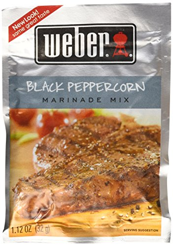 Weber Grill Marinade Black Peppercorn, 1.12-Ounce (Pack of 12)