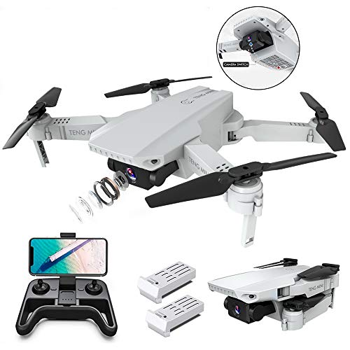 OBEST Drone with Dual Camera HD 4K, Smart Follow, WiFi FPV Live Video, Gesture Operation, Headless Mode, 2.4Ghz Mobile…