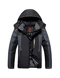 AooToo Men's Jacket Ski Waterproof Windproof Mountain Fleece Rain S-2XL