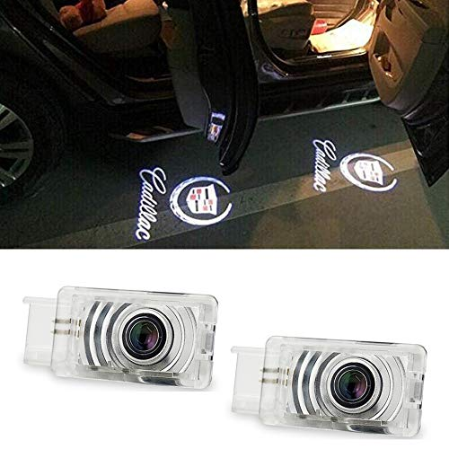 Car Door Projector Lights for Cadillac Courtesy Lamps Ghost Shadow Lights ATS SRX XTS Accessories Welcome Projector Lights, 2 Pack