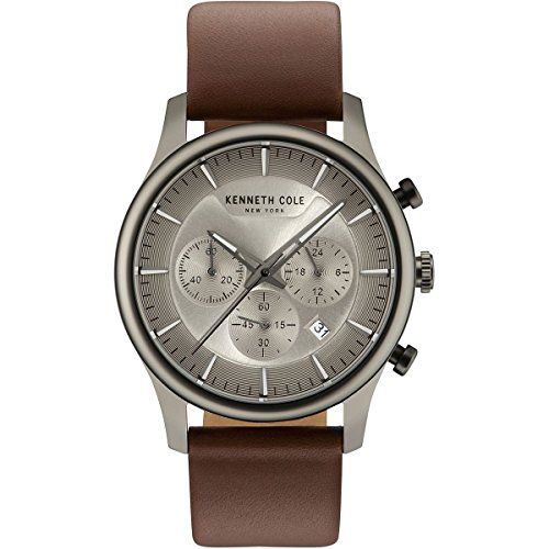 - Kenneth Cole New York Men's Sport' Quartz Stainless Steel and Leather Dress Watch, Color:Brown (Model: KC15106001)