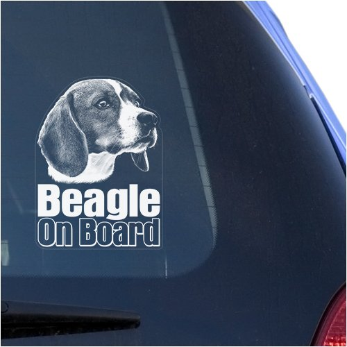 Beagle Clear Vinyl Decal Sticker for