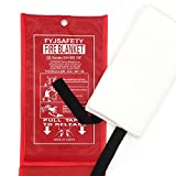 Emergency survival Fiberglass Fire Blanket Shelter Safety...
