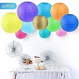Vastar Paper Lanterns, Paper Lanterns Decorative (Multi-Colored)