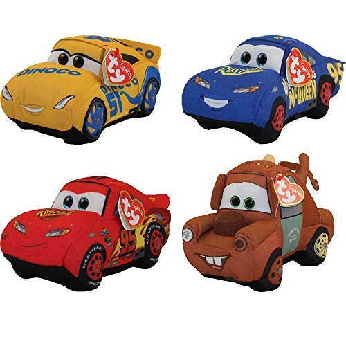 Ty Disney / Pixar Cars 3 Beanie Baby Set of (Disney Cars Pillow)