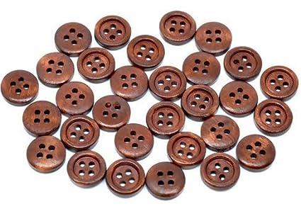 Strukturierter Knopf rund schwarz 30mm