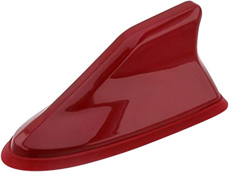 Psler Universal Coche Antena Impermeable de Señal de Radio de Aleta Tiburón Cubierta (Rojo Oscuro)