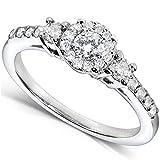 Round Brilliant Diamond Engagement Ring 1/2 carat (ctw) in 14K White Gold