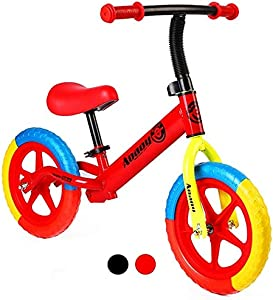 12 Inch Sport Balance Bike for Kids,Multicolor Inflation-Free Tyres,Adjustable and Comfortable Seat Ages 2,3,4,5 Years
