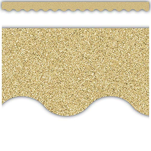 - Gold Glitz Scalloped Border Trim