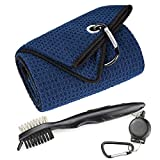 Best Golf Cleaning Tools - Mile High Life Microfiber Waffle Pattern Tri-fold Golf Review