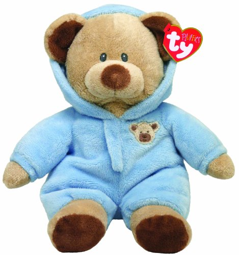 "Ty Pluffies Pj Bear 9"" Blue"