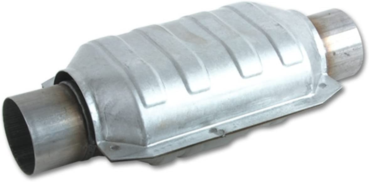 """Vibrant Performance Round Metal Core Catalytic Converter 2.5/"""" inlet//outlet"""