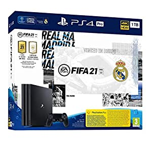 Comprar PlayStation 4 Pro (PS4) de 1 TB + FIFA 21, Edición Real Madrid