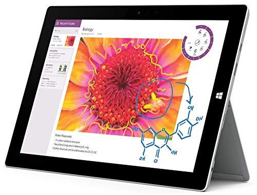 "Microsoft Surface 3 Tablet, Intel Atom x7 x7-Z8700, 1.6 GHz, 4 GB, 64 GB SSD, Windows 10, Silver, 10.8"" (Renewed)"