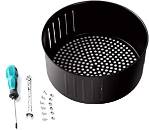 YMXLB Air Fryer Replacement Basket 3.7QT for Power Gowise USA Air Fryer and All Air Fryer Oven, Air Fryer Accessories
