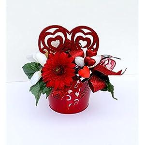 Valentine Heart Arrangement, floral arrangement, gift for her, Valentine's Day decoration, home decor 56