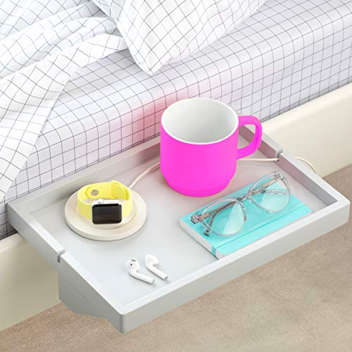 - BedShelfie The Original Bedside Shelf - AS SEEN ON Business Insider (Original Size, Light Grey)