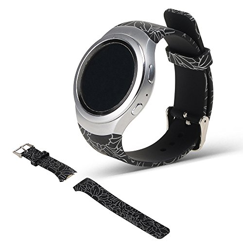 Feskio for Samsung Gear S2 SM-R720/R730 Replacement Watch Band Accessory Soft Silicone Colourful Sport Wristband Strap Band Bracelet Common Design for Samsung Galaxy Gear S2 SM-720/SM-730 Smartwatch