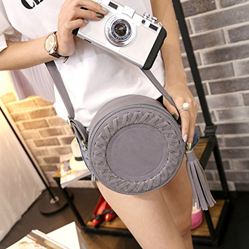 Bag Single Soft Leather Bag Ulable Cute PU Ladies Women Round Small Tassel Shoulder vSHZIS
