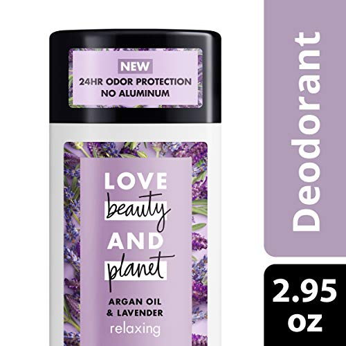 Love Beauty And Planet Aluminum-free Deodorant, Argan Oil and Lavender, 2.95 oz