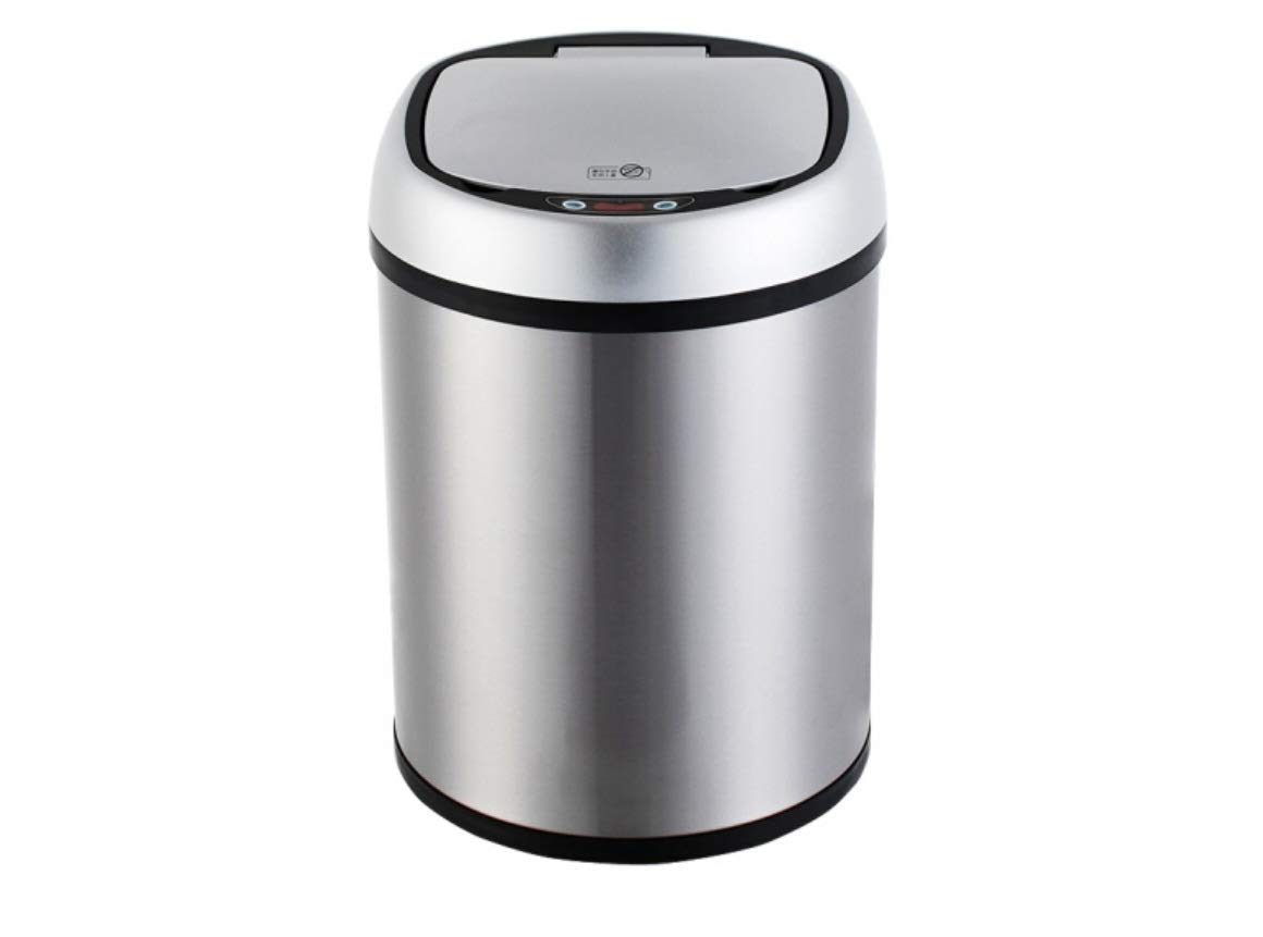 Wyf Bote de Basura de inducción automático hogar Sala de Estar Dormitorio Cocina baño Inteligente con Tapa Bote de Basura eléctrico Inteligente Barril de Almacenamiento de Basura (Color : 8L)