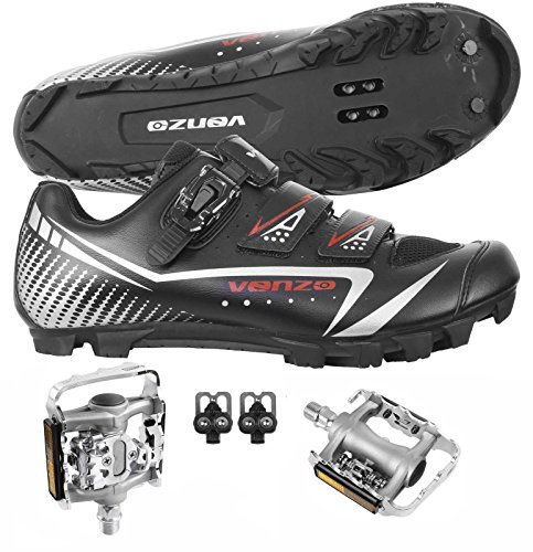 Bicycle Cycling Shimano SPD Shoes with Pedals Size 43 ()