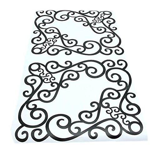 4/pcs//feuille /él/égant amovible dangle Grand format Applique Cadre Meuble miroir mural Stickers pour fen/être pour maison Porte darmoire Decor Craft Miroir Vigne D/écoration murale Autocollant Coin Autocollant