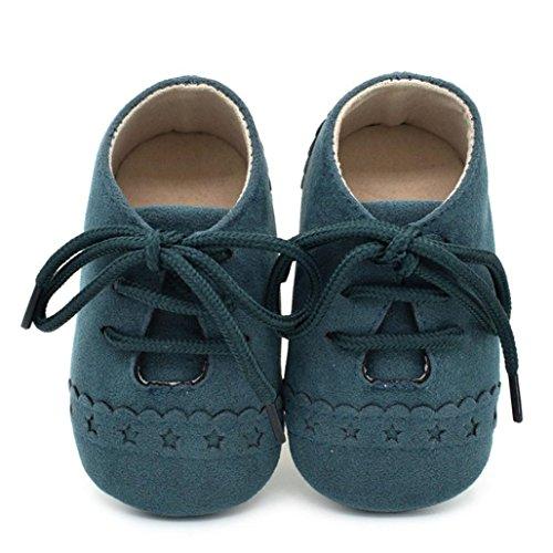 Upxiang Baby Krippe Schuhe Kleinkind Schuhe Sneaker Anti-Rutsch Weiche Sohle Lace Up Schuhe Babyschuhe Grün