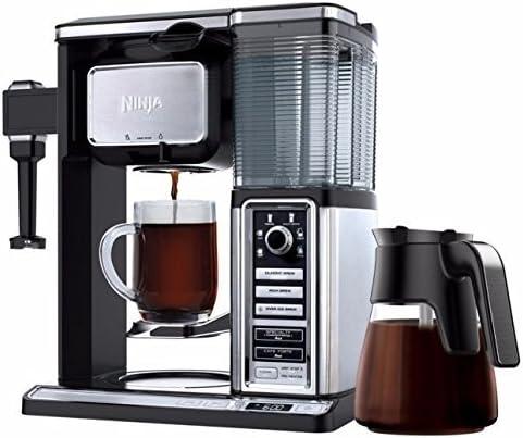 Ninja CF090CO Glass Carafe Coffee Maker (Renewed), 50 Ounce, Black