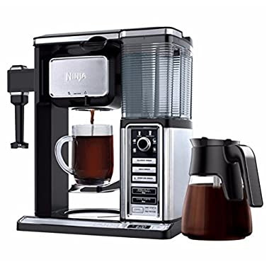 Ninja Coffee Maker CF090CO 50 oz. Glass Carafe Reusable Filter (Certified Refurbished)