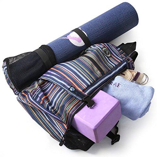 70922720ca Aurorae Yoga Multi Purpose Cross-body Sling Back Pack Bag. Mat - Import It  All