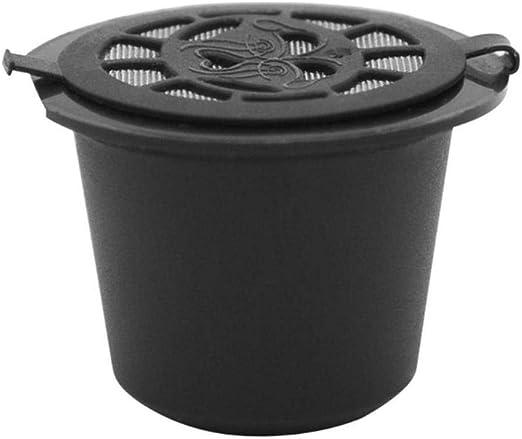 LASISZ Filtros de cápsulas de café Reutilizables y Recargables para cafetera con filtros de café con Cuchara y Cepillo , f: Amazon.es: Hogar