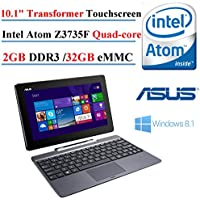 ASUS T100 Transformer Book 10.1 Touchscreen 2-in-1 Tablet Laptop, Intel Atom Z3735F,2GB DDR3L SDRAM, 32 GB eMMC, Intel HD Graphics Shared memory, Windows 8.1 (Certified Refurbished)