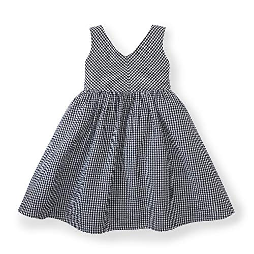 (Hope & Henry Girls' Blue Seersucker Swing Dress)