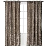 Threshold Dot Jacquard Curtain Window Panel – Tan For Sale