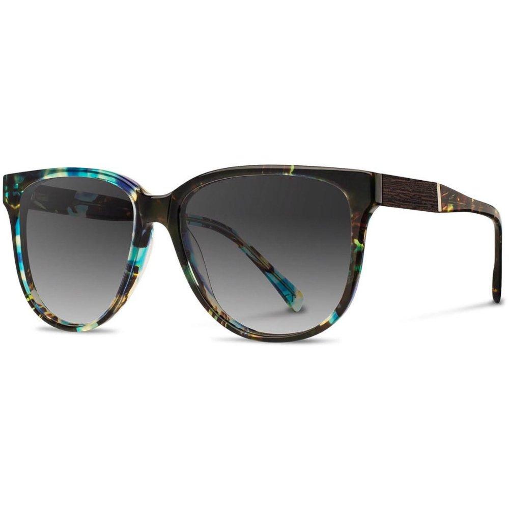 Shwood - McKenzie Acetate, Sustainability Meets Style, Blue Opal with Ebony Inlay, Grey Fade Polarized Lenses
