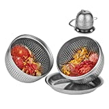 Tea Infuser Ball - Cooking Infuser for Loose Leaf Tea, Spices and Seasonings - Extra Fine Mesh Tea Strainer with Threaded Connection and Chain Hook