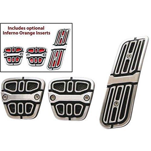 Eckler's Premier Quality Products 33283435 Camaro Billet Aluminum Pedal Covers Manual 3 Piece Set ()