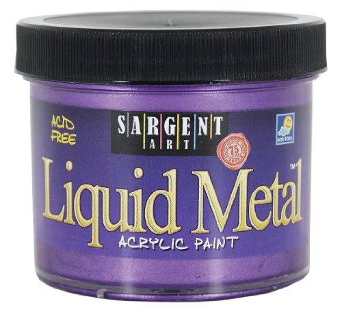 Sargent Art 22-1242 4-Ounce Liquid Metal Acrylic Paint, Viol