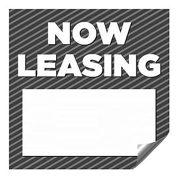 CGSignLab Now Leasing 27x18 Classic Navy Premium Brushed Aluminum Sign