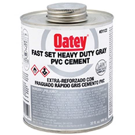 Oatey 31123 PVC Heavy Duty Fast Set Cement, Gray, Gallon - Contact Cements - Amazon.com