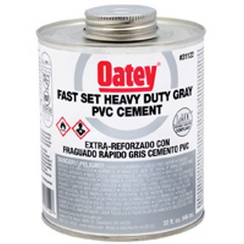 Oatey 31122 Fast-Set-Heavy-Duty-Gray-PVC solvent cement 32 oz - - Amazon.com