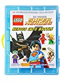Life Made Better Official LEGO Super Heroes Sticker Book with Dimensions Compatible Storage Organizer, Blue, 1000-Stickers