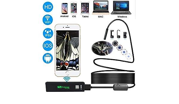 Amazon.com: adnroid USB Endoscope Camera hd 1200p ip68 semi Rigid Tube Endoscope Wireless WiFi borescope Video Inspection for Android/iOS: Camera & Photo