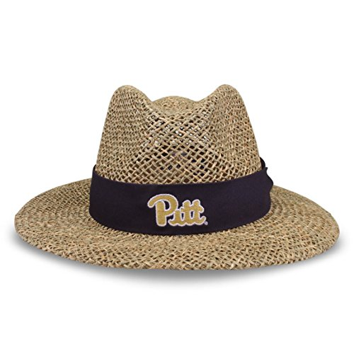 (The Game NCAA Pittsburgh Panthers Straw Safari Hat, One Size, Navy )