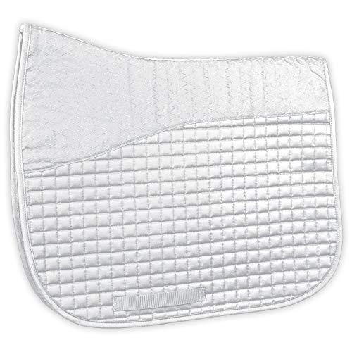 Dura-Tech Dressage Saddle Pad with Anti-Slip Top (White)