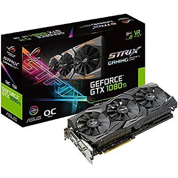 ASUS ROG-STRIX-GTX1080TI-O11G-GAMING GeForce 11GB OC Edition VR Ready 5K HD Gaming HDMI DisplayPort DVI Overclocked PC GDDR5X Graphics Card